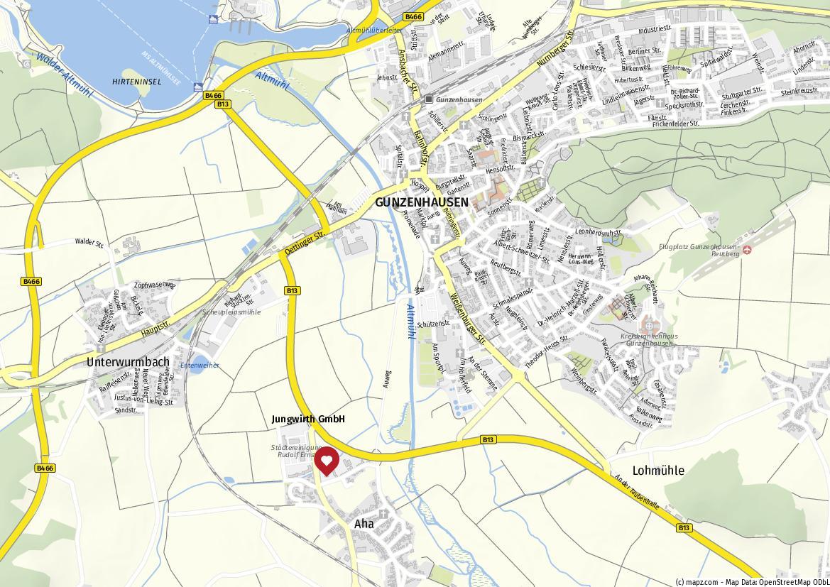 Karte Lage